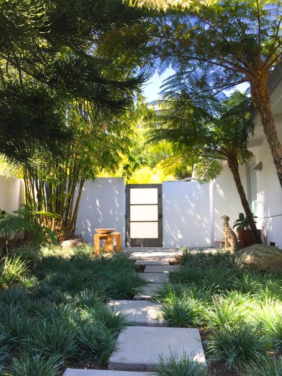 midcentury modern garden gate